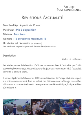 Ateliers Post-Conférence