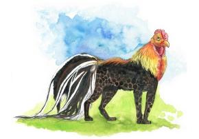 Hybrides N°024 : Coq-PanthèreNoire